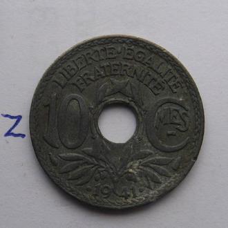 Франция, 10 сантимов 1941 года.