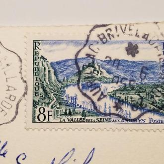 (А) Марка Франция 1954 год + Открытка!