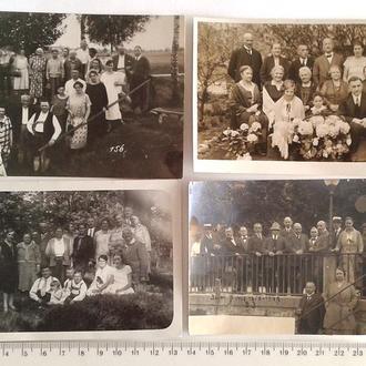 Старые групповые фото 4 шт. На отдыхе 1920 Германия