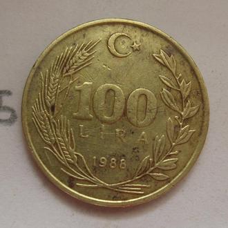 ТУРЦИЯ 100 лир 1988 года.