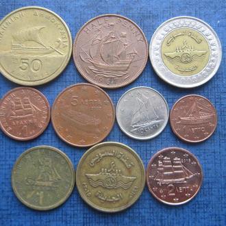 10 монет по теме корабли флот разные одним лотом