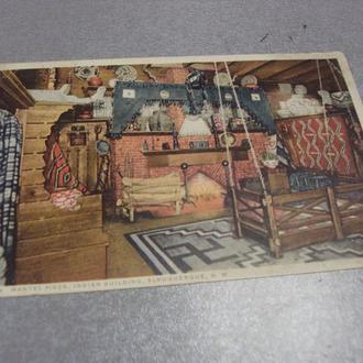 открытка  Mantel Piece, Indian Building, Albuquerque, N. M. №1381