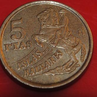 5 песет 1997 г Испания Болеары