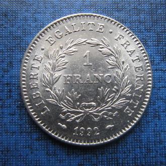 монета 1 франк Франция 1992 юбилейный