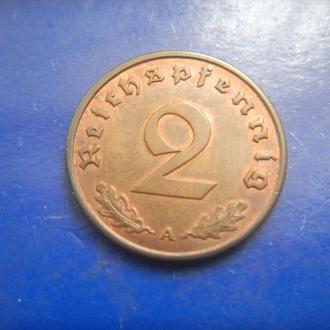 Германия 2 пфеннига 1938 A