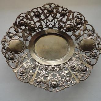 Блюдо серебро 800,красивенное