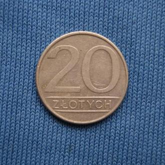 Польша 20 злотых 1986 г