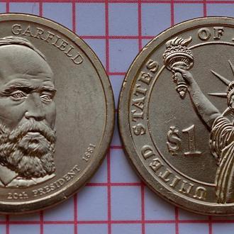 1 доллар 20-й президент США Джеймс Гарфилд, 2011 г