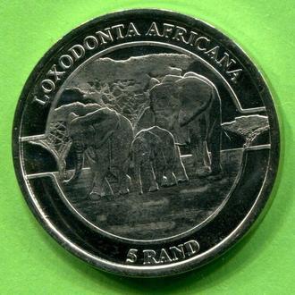 Венда ( ЮАР) 5 рэндов 2019 слоны
