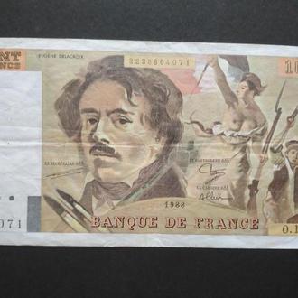 CENT FRANCS 1988