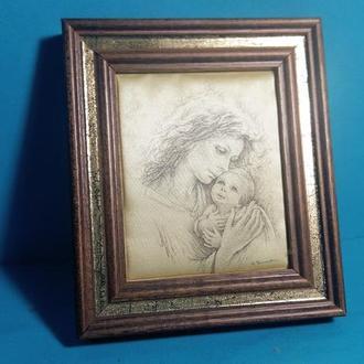 Шелкография Мать с ребёнком
