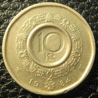 10 крон 1984 Норвегія