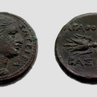 (А)3374 - СИЦИЛИЯ. Сиракузы, Агафокл (317—289 до н.э.) Æ 22