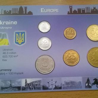 Редкий набор Украина в т.ч. 50 копеек 2001 год + 25 копеек 2001 год RRR набір