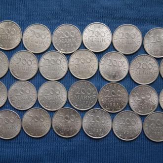 Германия Веймар 200 марок 1923 г A  26шт