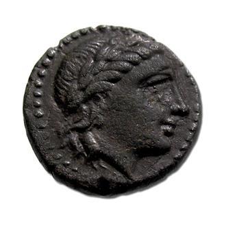 """(А)2733 - ЭОЛИДА. Мирина (II в.до н.э.) Æ15 """"Аполлон"""""""
