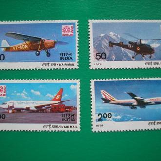 Индия 1979 Самолеты  MNH полн. сер.
