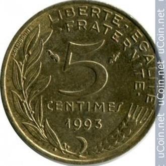 Франція 5 сантимів, 1993