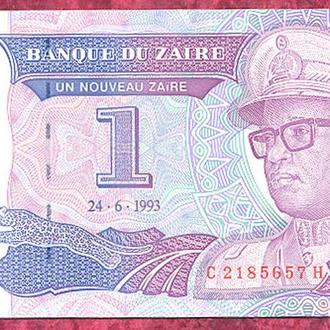 Боны Африка Заир 1 заир 1993 г.