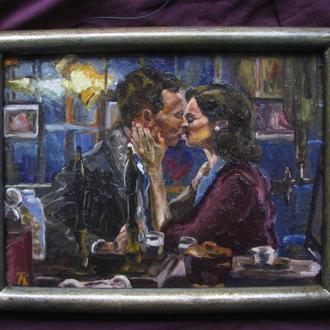 """Картина олійними фарбами """"Вечірня романтика"""""""