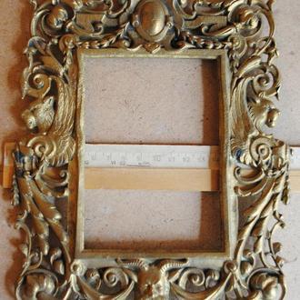 Рамка старинная для фотографии 9*13 бронзовая ХIХвек.