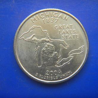 США 25 центов Мичиган P 2004