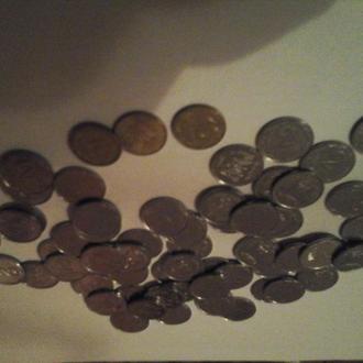 2008 год  60 монет. 10 коп х 3 штуки, 2 копейки х 57 штук