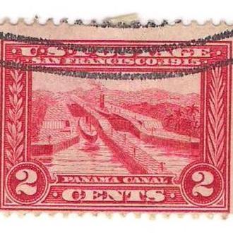 1915 год. США. 2 cents. Панамский канал.