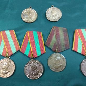 медаль за доблестный труд в вов лот 6 шт №5708