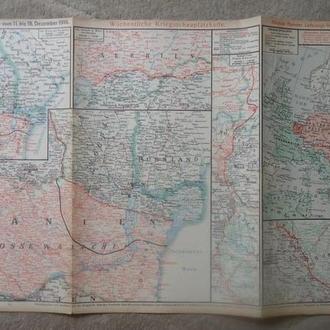 военная карта  №115    1916 г