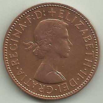 Великобритания Элизабет II 1/2 пенни 1966 aUNC