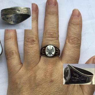 Серебряное кольцо с польским орлом