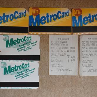 США карта проїзду білет метро . Билет, пластиковая карточка .