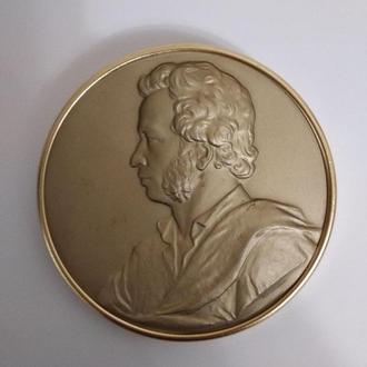 Настольная медаль Пушкин (ЛМД, Н. Соколов)