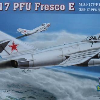 Сборная модель самолета МиГ-17 ПФУ  Fresco E 1:48 Hobby Boss 80337