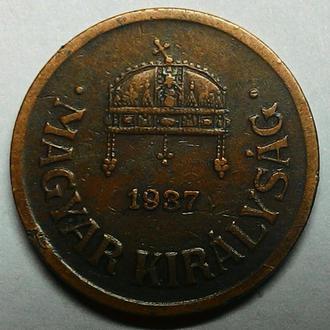 Венгрия 2 филлера 1937 год