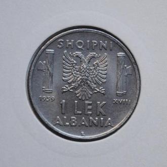 Албания 1 лек 1939 г., UNC, РЕДКОЕ СОСТОЯНИЕ