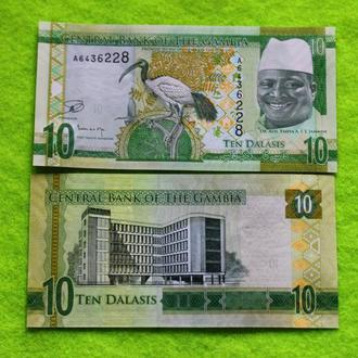 Гамбия 10 даласи 2015 UNC