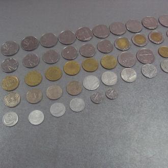 монеты италия  5 10 20 50 100 200 500 лот 51 шт №737