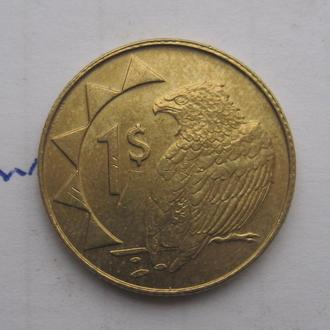НАМИБИЯ, 1 доллар 2006 г. (ОРЕЛ).