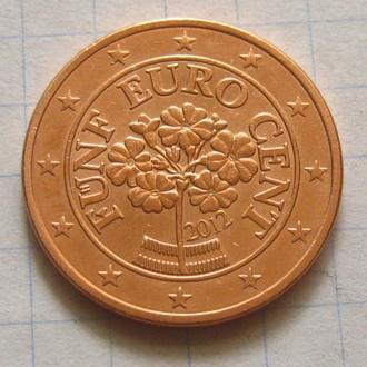 Австрия_ 5 евро центов 2012 оригинал
