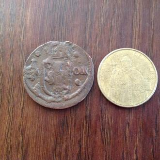 Швеция средневековая монета. Большая.