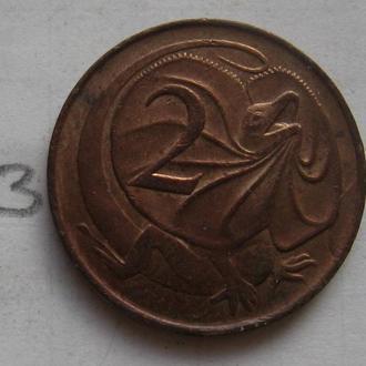 АВСТРАЛИЯ, 2 цента 1967 года (ЯЩЕРИЦА).