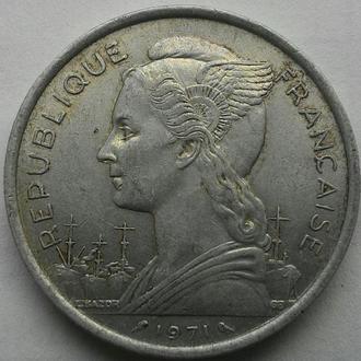 Реюньон 5 франков 1971 РЕДКИЙ ГОД!!!! СОСТОЯНИЕ!!!!