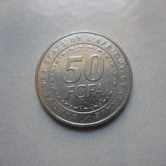 Центральная Африка 50 франков 2006 флора