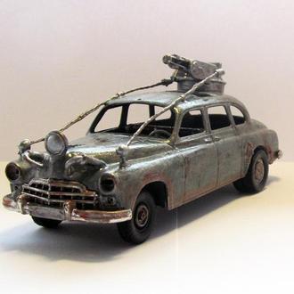"""Модель конверсия Buick ГАЗ 12 ЗИМ в стиле пост-апокалипсиса """"Безумного Макса"""""""