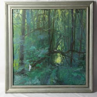 """Шульган А.В. """"Я із лісу"""" 2003. Гуашь, бумага. Размеры 52х50 см."""