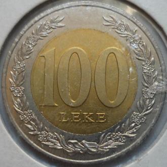 Албания 100 леков 2000 биметалл состояние