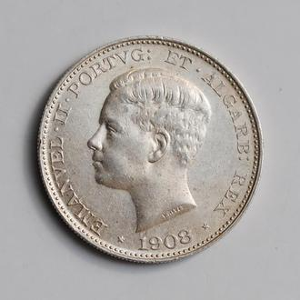 "Португалия 500 рейсов 1908 г., AU, ""Король Мануэл II (1908 - 1910)"""