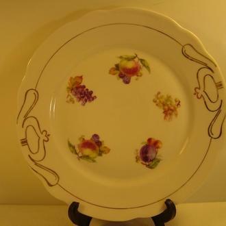 Антикварная тарелка для фруктов. Фарфор. Германия. № 963